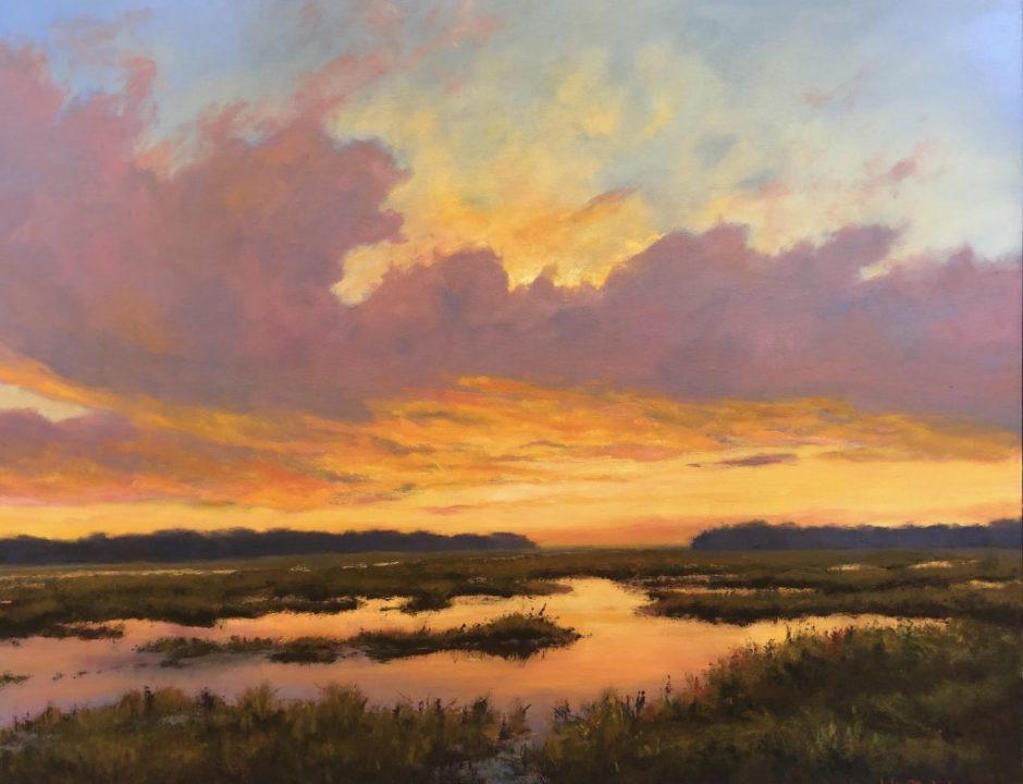 Yolo Reflections; Painting by John Nichols